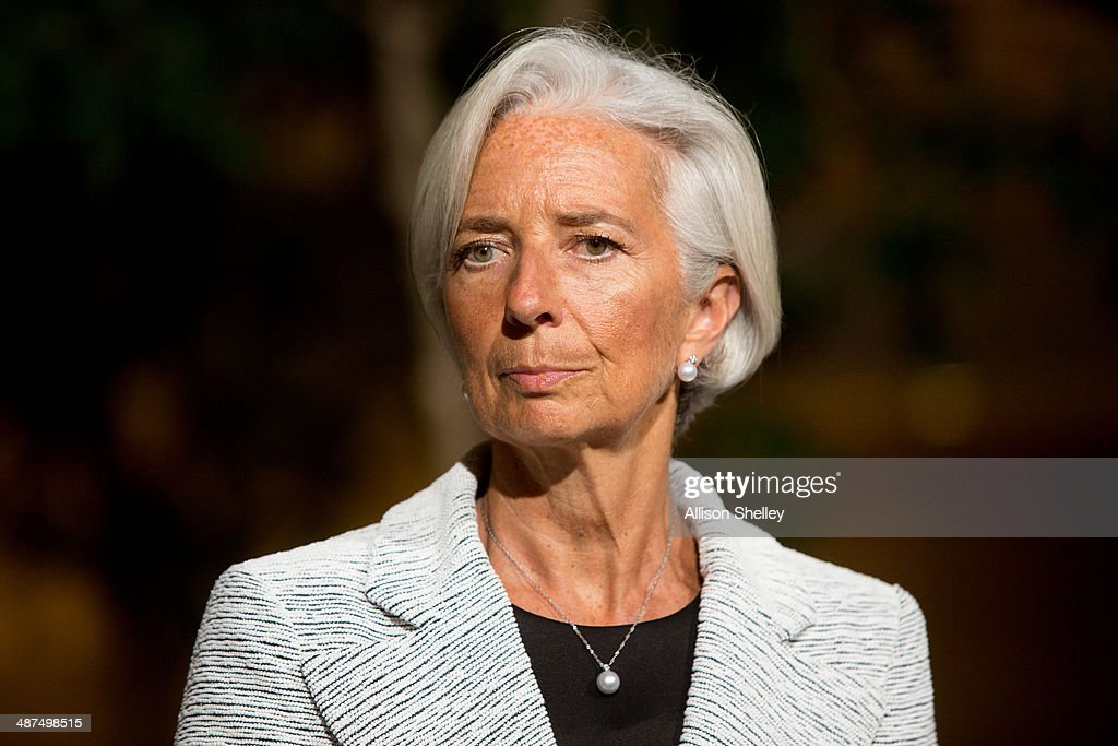 International Monetary Fund Managing Director Christine Lagarde announces a two-year 'Stand-By Arrangement' for Ukraine at IMF headquarters on April 30, 2014 in Washington D.C. The IMF intends for the $17 billion fund to restore stability and launch economic growth in the country.