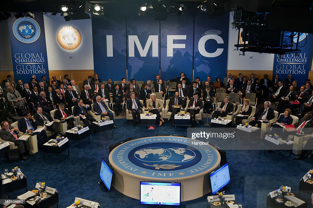International Monetary Fund Managing Director Christine Lagarde speaks at the 40th anniversary of the IMFC meeting asFinance Ministers and Bank...