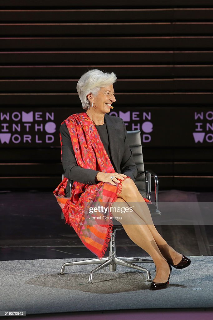 International Monetary Fund Managing Director <a gi-track='captionPersonalityLinkClicked' href=/galleries/search?phrase=Christine+Lagarde&family=editorial&specificpeople=566337 ng-click='$event.stopPropagation()'>Christine Lagarde</a> speaks onstage at <a gi-track='captionPersonalityLinkClicked' href=/galleries/search?phrase=Christine+Lagarde&family=editorial&specificpeople=566337 ng-click='$event.stopPropagation()'>Christine Lagarde</a>: Madame Chairman during Tina Brown's 7th Annual Women In The World Summit at David H. Koch Theater at Lincoln Center on April 7, 2016 in New York City.
