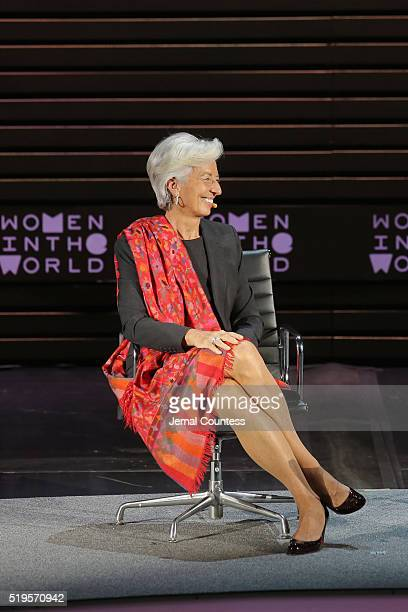 International Monetary Fund Managing Director Christine Lagarde speaks onstage at Christine Lagarde Madame Chairman during Tina Brown's 7th Annual...