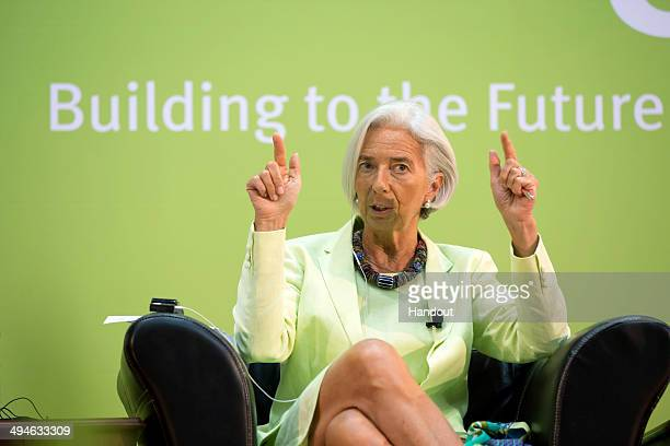 International Monetary Fund Managing Director Christine Lagarde participates in the concluding roundtable at the Africa Rising Conference May 30 2014...