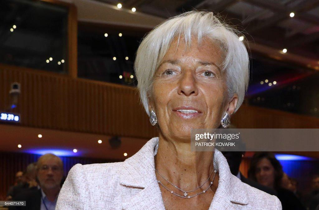 International Monetary Fund (IMF) Managing Director Christine Lagarde looks on during the 60th anniversary of the Paris Club, on July 1, 2016 in Paris. KOVARIK