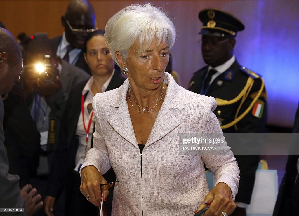 International Monetary Fund (IMF) Managing Director Christine Lagarde looks on during the 60th anniversary of the Paris Club, on July 1, 2016 in Paris. KOVARIK