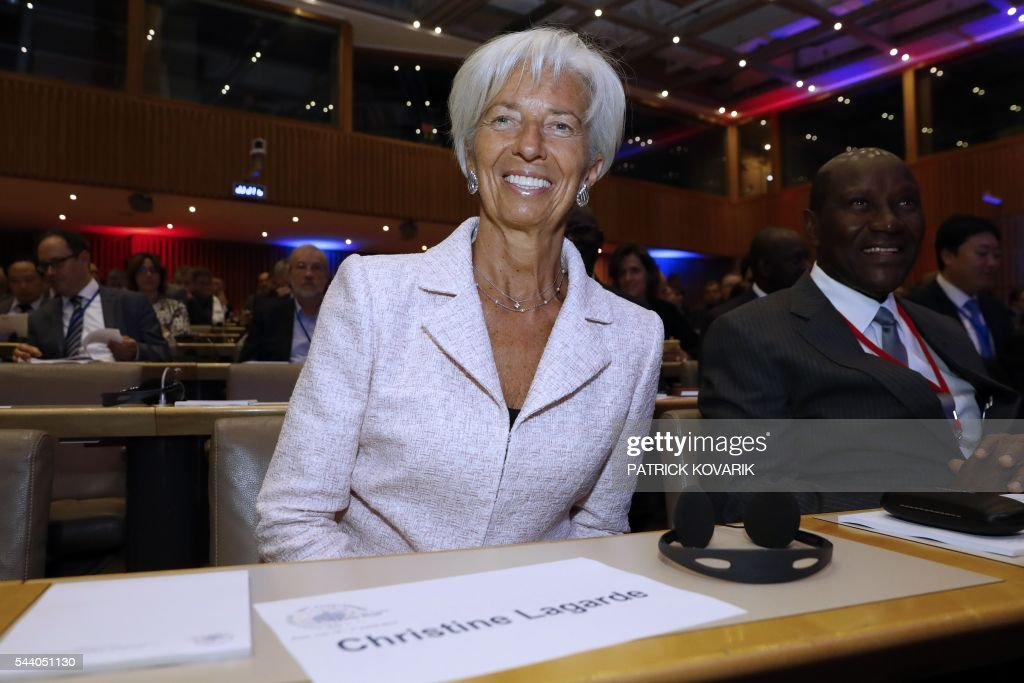 International Monetary Fund (IMF) Managing Director Christine Lagarde smiles during 60th anniversary of the Paris Club, on July 1, 2016 in Paris. KOVARIK