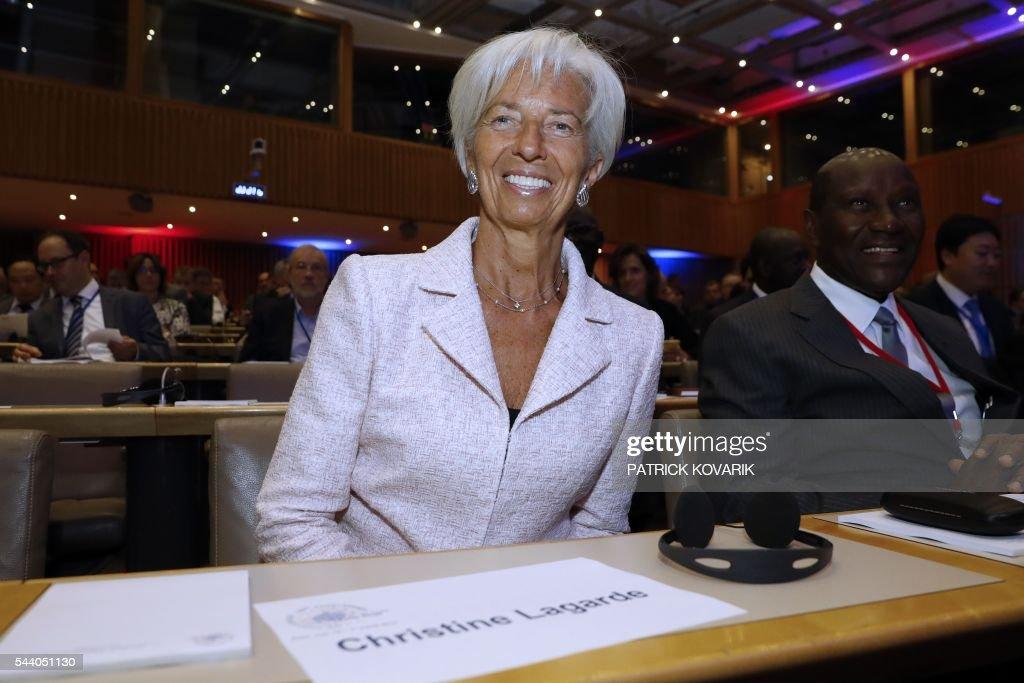 International Monetary Fund (IMF) Managing Director Christine Lagarde smiles during 60th anniversary of the Paris Club, on July 1, 2016 in Paris. KOVARIK