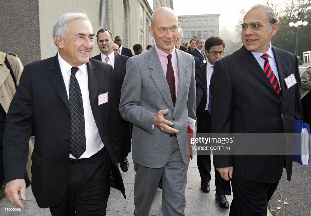 International Monetary Fund managing director France's Dominique StraussKahn World Trade Organisation director general France's Pascal Lamy and...
