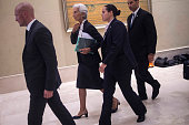 International Monetary Fund ManagingDirector Christine Lagarde arrives to take part in the G20 Highlevel Tax Symposium during a meeting of G20...