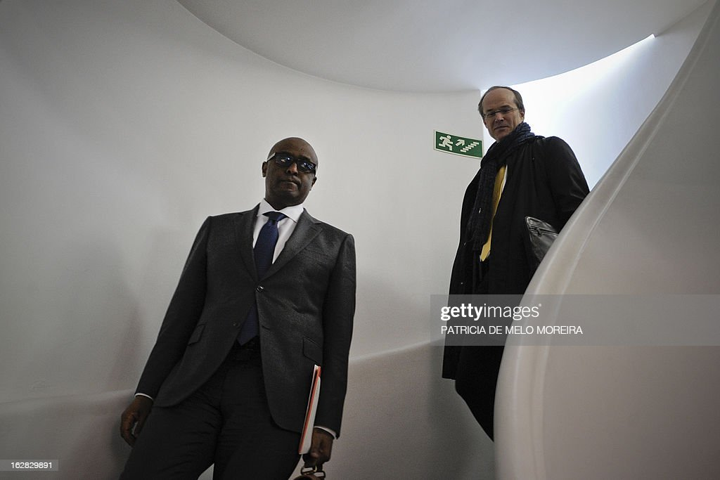 International Monetary Fund (IMF) mission chief for Portugal, Abebe Selassie (L) leaves the headquartes of the Economic and Social Council (CES) in Lisbon on February 28, 2013, for a meeting with the labour union representatives, as the so-called Troika of public creditors -- the European Union, the European Central Bank and the International Monetary Fund -- began its latest review of the country's finances. Portugal was granted a financial rescue package worth 78 billion euros ($103 billion) in May 2011, in exchange for a pledge to straighten out its finances via austerity measures and economic reforms.
