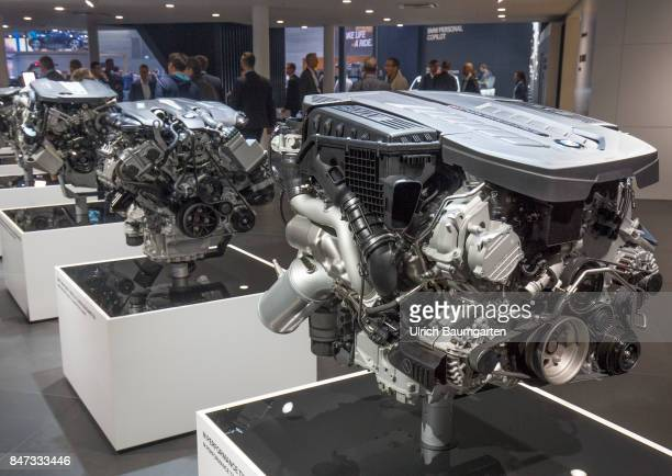International Motor Show 2017 in Frankfurt Exhibition visitors at BMW petrol engines