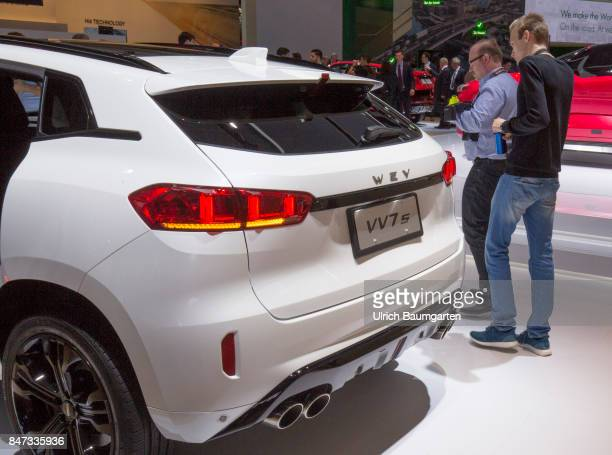 International Motor Show 2017 in Frankfurt The Wey VV7S the first series vehicle of the Chinese automotive brand Wey
