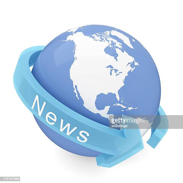 International News with clipping path