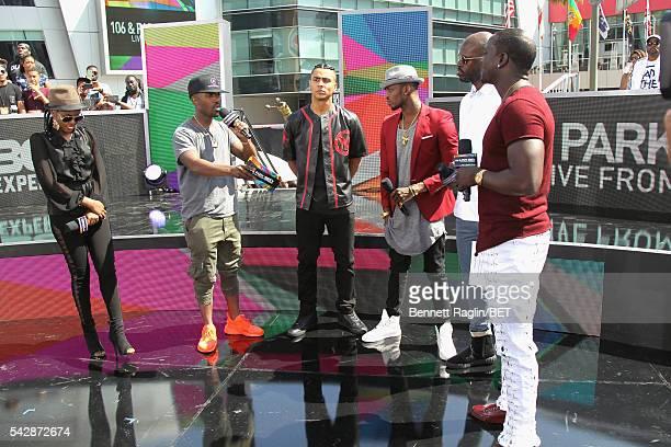 BET International nominee MzVee cohosts Ray J and Quincy Combs BET International nominees Diamond Platnumz and Black Coffee and recording artist Akon...