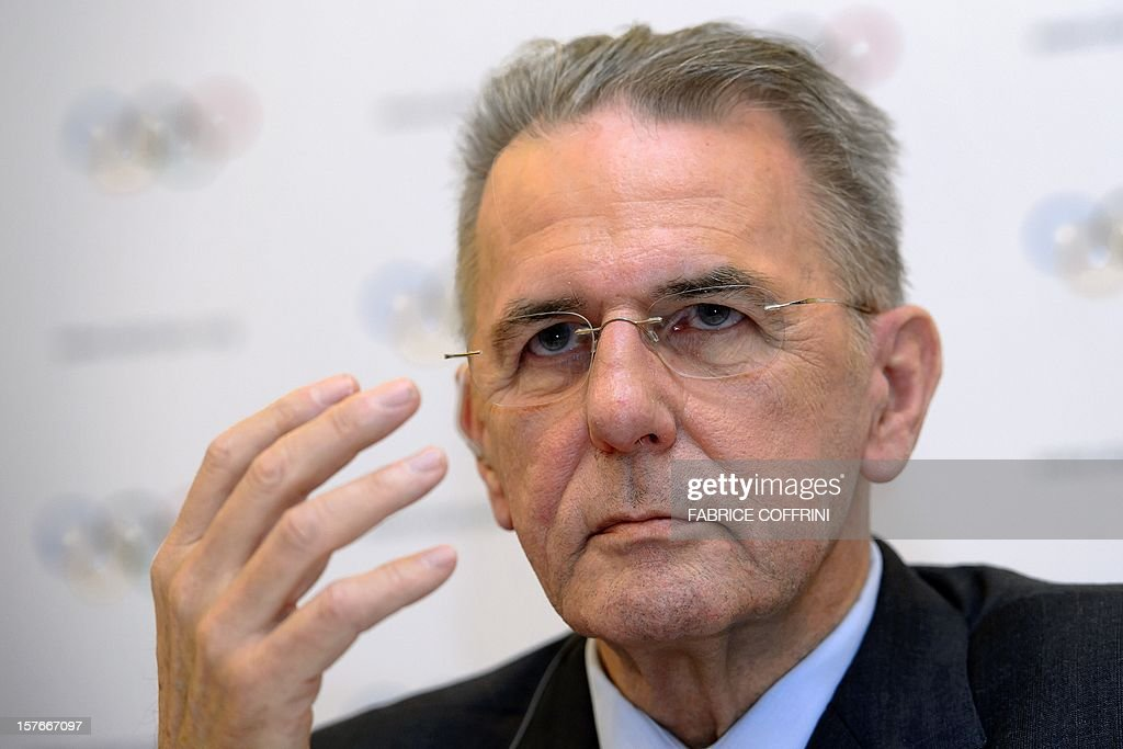 International Olympic Committee (IOC) President Jacques Rogge gestures during a press conference closing an IOC executive meeting on December 5, 2012 in Lausanne. Four medallists from the 2004 Olympic Games were officially stripped of their medals by the IOC, after new analysis of their dope tests taken at the Athens Games revealed traces of steroids.
