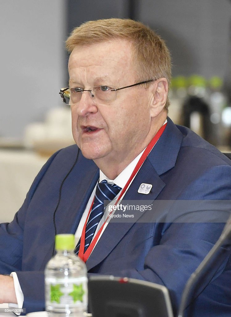 International Olympic Committee Vice President <a gi-track='captionPersonalityLinkClicked' href=/galleries/search?phrase=John+Coates&family=editorial&specificpeople=233445 ng-click='$event.stopPropagation()'>John Coates</a> addresses a meeting with the 2020 Tokyo Olympic organizing committee in the capital on May 26, 2016. In the meeting held to check the current status of Olympic preparations, Coates said he was happy about the progress without mentioning the bribery allegations in connection with Tokyo's winning bid to host the 2020 Games. ==Kyodo
