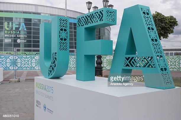 International Press Center of the SCO and BRICS summits in Ufa the capital of the Bashkortostan republic Russia on July 09 2015 Ufa is hosting BRICS...