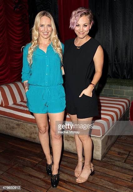 International Show Jumper Ashlee Bond and Actress Kaley Cuoco attend the Longines Masters of Los Angeles welcoming event at the Petit Ermitage in...