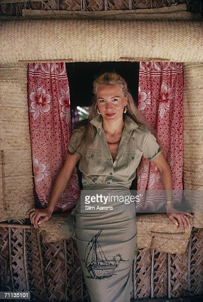 International socialite Countess Donatella Flick visits the Blue Safari Club on Manda Island in the Lamu Archipelago of Kenya February 1987 The club...
