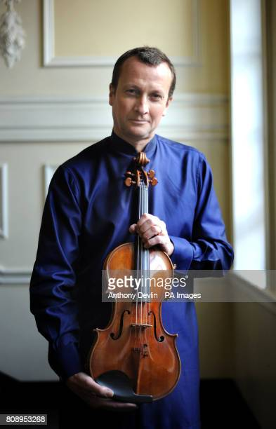 International soloist Philip Dukes with one of the rarest instruments in the world the Stradivarius Archinto viola at the Royal Academy of Music...