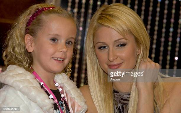 International style icon and heiress Paris Hilton launching her new fragrance 'Heiress' at BT2 Grafton St Dublin Also in attendance were mother Kathy...
