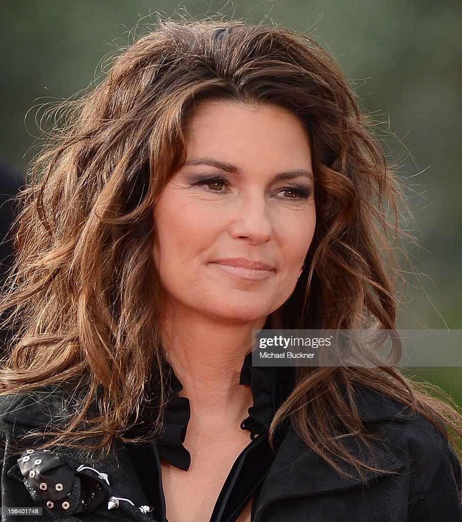 International superstar Shania Twain rides up the Las Vegas Strip on horseback to greet fans on to The Colosseum at Caesars Palace on November 14, 2012 in Las Vegas, Nevada.