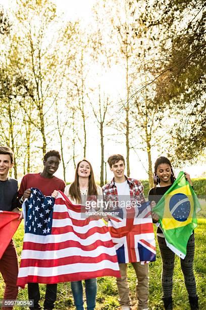 international supporter student togetherness