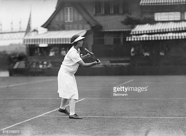 International Tennis Tournament at Forest Hills Miss Helen Wills in action