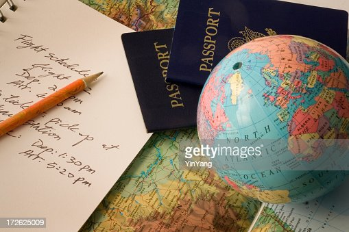 International Vacation Travel Planning With Passport Globe Map And – Travel Planning Map