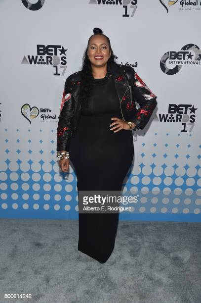 International Vice President Programming Brand Advancement Ava L Hall attends the 2017 BET International Awards Presentation at Microsoft Theater on...