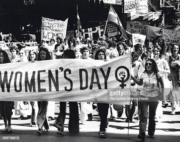 International Women's Day 12 March 1977 SMH Picture by DAVID BARTHO