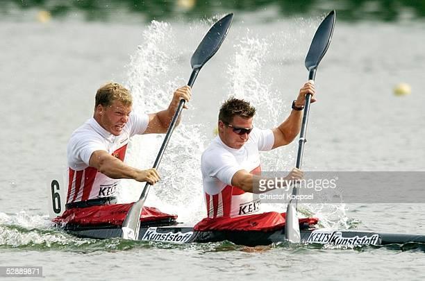 Internationale Kanuregatta 2003 Duisburg 200m K2/Maenner Timm HUTH und Lutz ALTEPOST/GER
