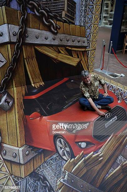 Internationally renowned 3D artist Kurt Wenner at The Zone in Rosebank on March 27 in Johannesburg South Africa Wenner left his career at NASA to...