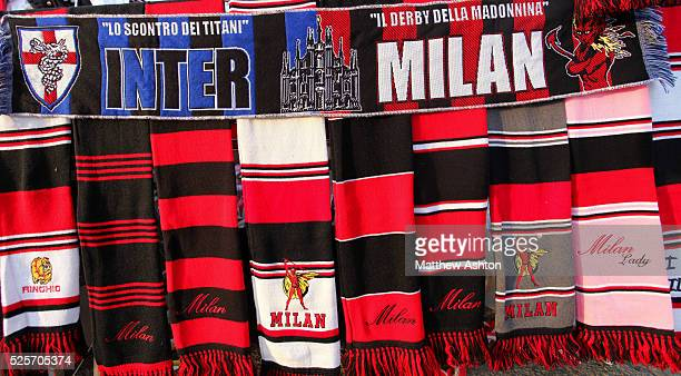 Internazionale and AC Milan scarfs