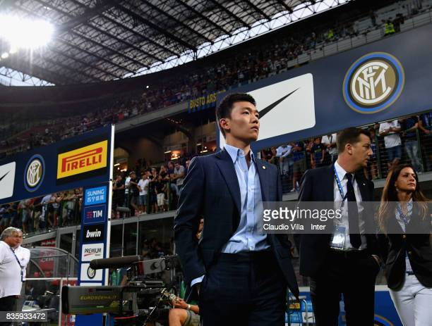 Internazionale board member Steven Zhang before the Serie A match between FC Internazionale and ACF Fiorentina at Stadio Giuseppe Meazza on August 20...