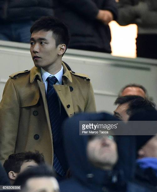Internazionale board member Steven Zhang Kangyang looks during the Serie A match between FC Internazionale and ACF Fiorentina at Stadio Giuseppe...