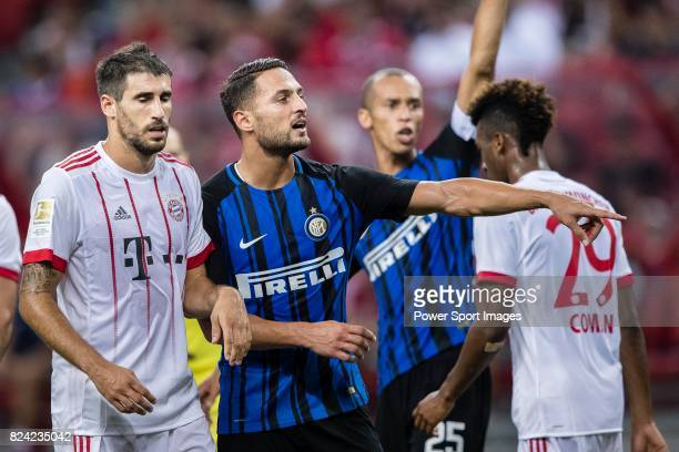 Internazionale Defender Danilo D'u2019Ambrosio gestures during the International Champions Cup match between FC Bayern and FC Internazionale at...