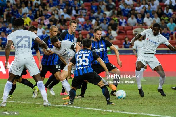 Internazionale Defender Danilo D'u2019Ambrosio in action during the International Champions Cup 2017 match between FC Internazionale and Chelsea FC...