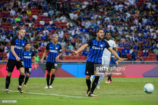 Internazionale Defender Danilo D'u2019Ambrosio reacts during the International Champions Cup 2017 match between FC Internazionale and Chelsea FC on...