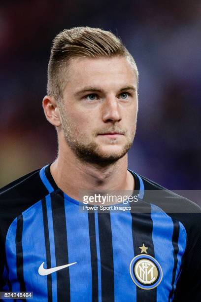 Internazionale Defender Milan Skriniar getting into the field during the International Champions Cup 2017 match between FC Internazionale and Chelsea...