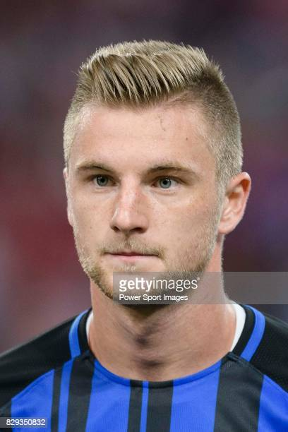 Internazionale Defender Milan Skriniar getting into the field during the International Champions Cup match between FC Bayern and FC Internazionale at...