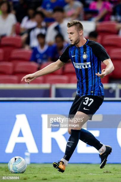 Internazionale Defender Milan Skriniar in action during the International Champions Cup 2017 match between FC Internazionale and Chelsea FC on July...