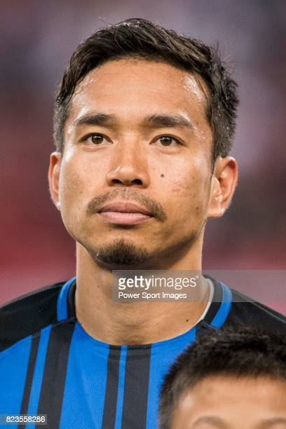 Internazionale Defender Yuto Nagatomo during the International Champions Cup match between FC Bayern and FC Internazionale at National Stadium on...