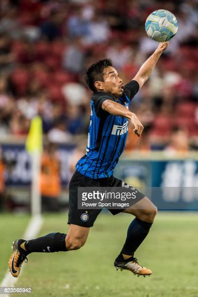 Internazionale Defender Yuto Nagatomo in action during the International Champions Cup match between FC Bayern and FC Internazionale at National...