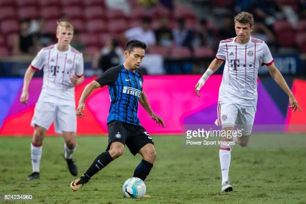 Internazionale Defender Yuto Nagatomo plays against Bayern Munich Forward Thomas Muller during the International Champions Cup match between FC...