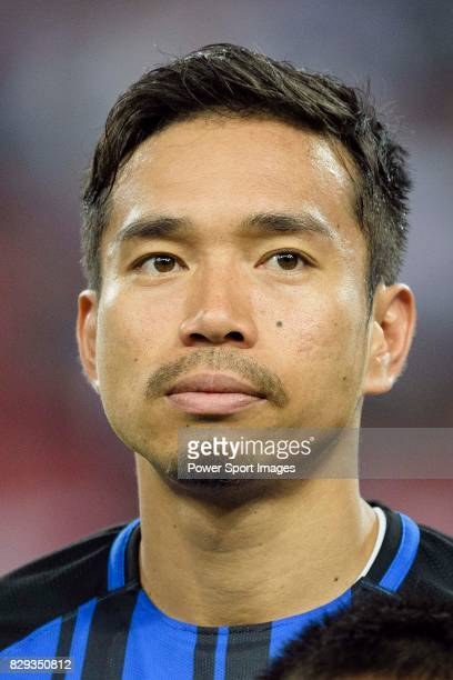 Internazionale Defender Yuto Nagatomo Warming up during the International Champions Cup match between FC Bayern and FC Internazionale at National...
