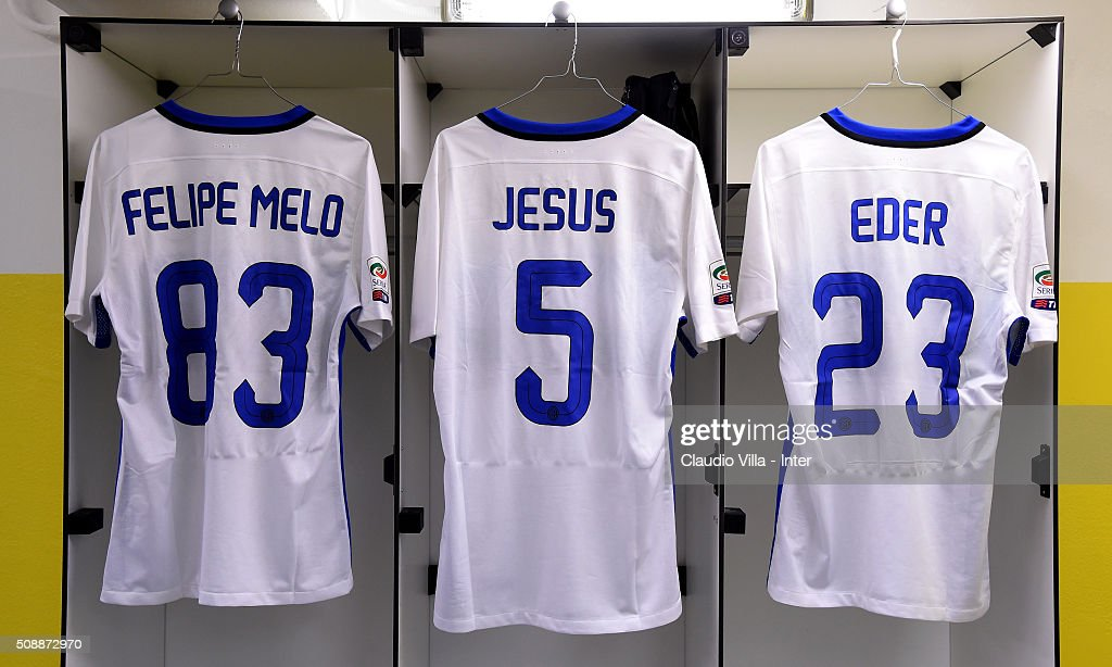 FC Internazionale dressing room prior to the during the Serie A match between Hellas Verona FC and FC Internazionale Milano at Stadio Marc'Antonio Bentegodi on February 7, 2016 in Verona, Italy.