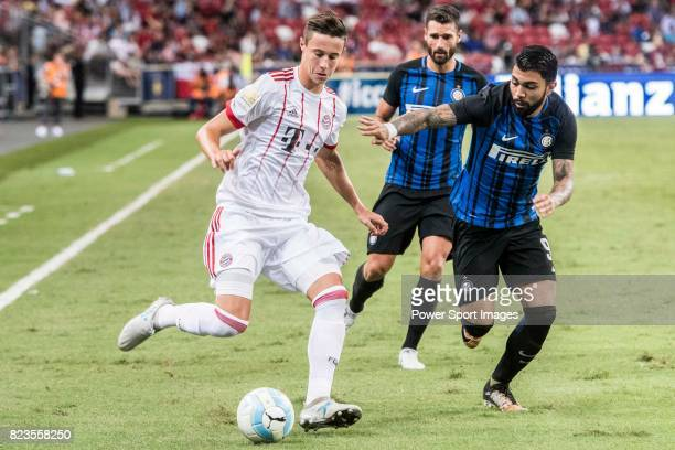 Internazionale Forward Gabriel Barbosa fights for the ball with Bayern Munich Defender Marco Friedl during the International Champions Cup match...