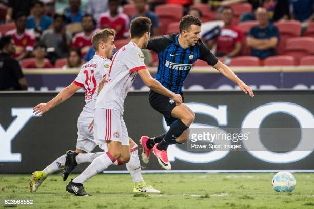 Internazionale Forward Ivan Perisic in action against Bayern Munich Midfielder Niklas Dorsch during the International Champions Cup match between FC...