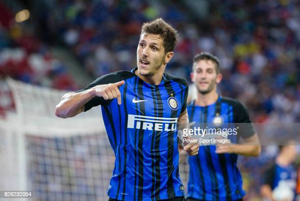 Internazionale Forward Stevan Jovetic celebrating his goal scored by penalty during the International Champions Cup 2017 match between FC...