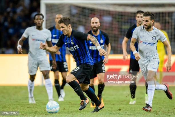 Internazionale Forward Stevan Jovetic in action during the International Champions Cup 2017 match between FC Internazionale and Chelsea FC on July 29...
