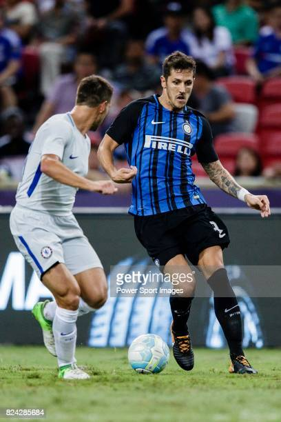 Internazionale Forward Stevan Jovetic plays against Chelsea Defender Cesar Azpilicueta during the International Champions Cup 2017 match between FC...